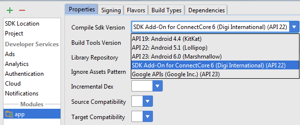 Create an Android application from scratch