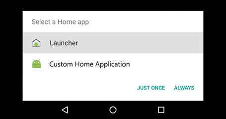 Auto-start custom Android applications