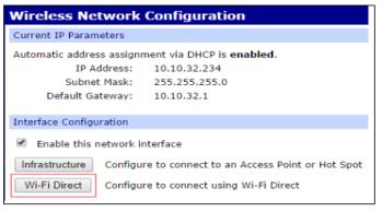 Configure WVA for Wi-Fi Direct
